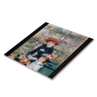Renoir, two sisters (at terrace) tile