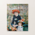 """Renoir &quot;Two Sisters (On the Terrace)&quot; Jigsaw Puzzle<br><div class=""""desc"""">""""Two Sisters (On the Terrace)"""" was painted by Pierre-Auguste Renoir in 1881. Renoir was a French artist and leading painter in the development of the Impressionist style. To me this painting is a joy. It is a marvelous celebration of color as well as being an homage to springtime, youth and...</div>"""