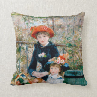 "Renoir ""Two Sisters (On the Terrace)"" Throw Pillow"