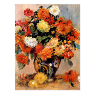 Renoir - Vase of Flowers, 1884 Postcard