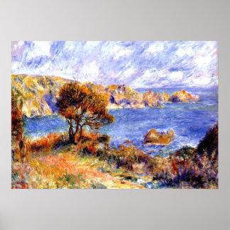 Renoir - View at Guernsey Poster