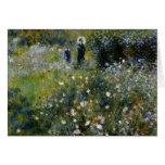 Renoir Woman with Parasol in Garden Card