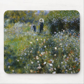 Renoir Woman with Parasol in Garden Fine Art Mouse Pad