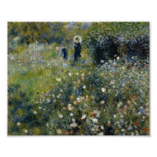 Renoir Woman with Parasol in Garden Poster