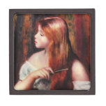 Renoir Young Girl Combing Her Hair Gift Box Premium Gift Boxes