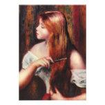 Renoir Young Girl Combing Her Hair Invitations