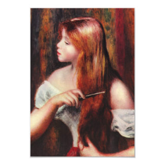 Renoir Young Girl Combing Her Hair Invitations