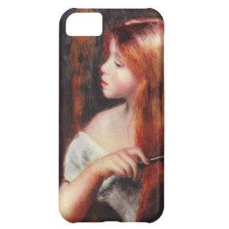 Renoir Young Girl Combing Her Hair iPhone 5 Case