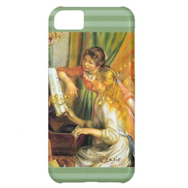 Renoir Young Girls Playing Piano Music Case For iPhone 5C