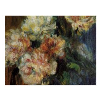 Renoir's A Vase of Peonies Postcard