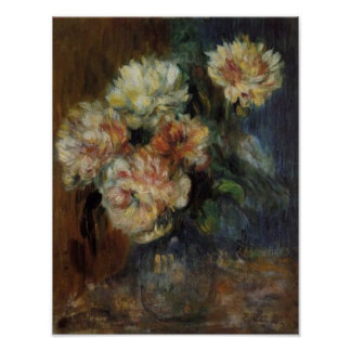 Renoir's A Vase of Peonies Poster
