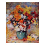 Renoir's A Vase of Tulips and Anemones Poster