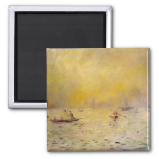 Renoir's A View of Venice Fog 2 Inch Square Magnet