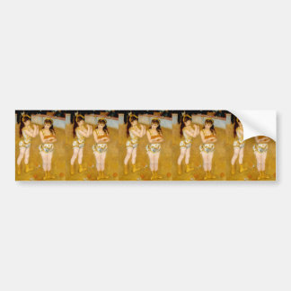 Renoir's Acrobats at the Cirque Fernando (1879) Bumper Sticker