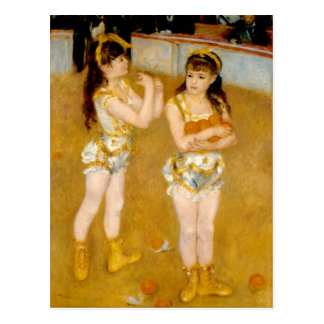 Renoir's Acrobats at the Cirque Fernando (1879) Postcard