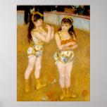 Renoir's Acrobats at the Cirque Fernando (1879) Poster