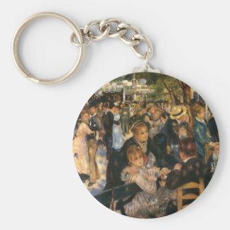 Renoir's Bal du   de la Galette (1876) Basic Round Button Keychain