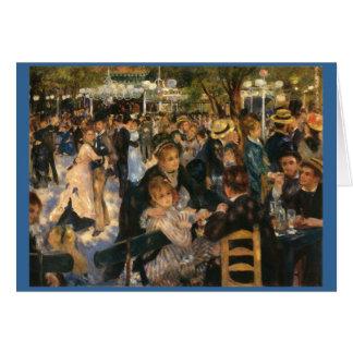 Renoir's Bal du   de la Galette (1876) Card