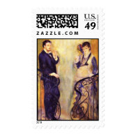 Renoir's Expectant Couple on the Staircase Postage