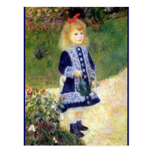 Renoir's, Girl with a Watering Can Postcard