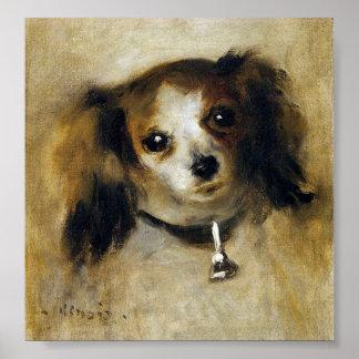 Renoir's Head of A Dog 1870 Poster