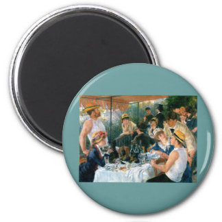Renoir's Luncheon of the Boating Party (1881) 2 Inch Round Magnet