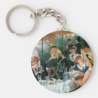 Renoir's Luncheon of the Boating Party (1881) Basic Round Button Keychain
