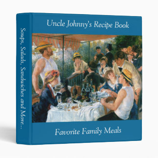 Renoir's Luncheon of the Boating Party (1881) 3 Ring Binder