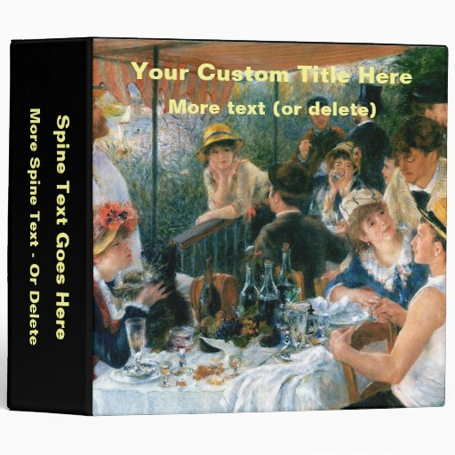 renoirs luncheon of the boating party essay In one of pierre-auguste renoir's best-known paintings, a bearded man in a top  hat stands behind most of the other figures, with his back.