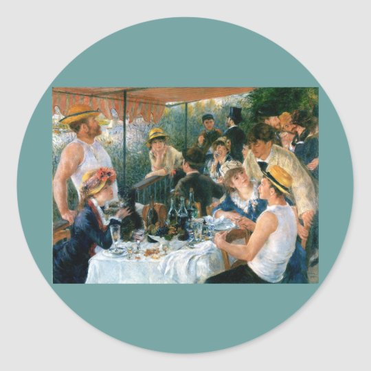 Renoir's Luncheon of the Boating Party (1881) Classic Round Sticker