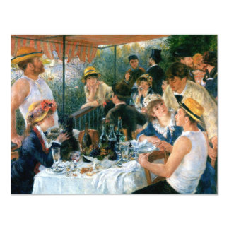 Renoir's Luncheon of the Boating Party (1881) 4.25x5.5 Paper Invitation Card