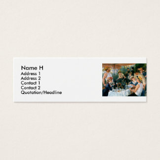 Renoir's Luncheon of the Boating Party (1881) Mini Business Card