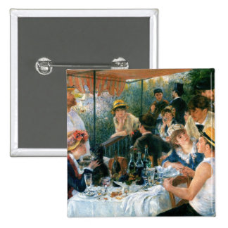 Renoir's Luncheon of the Boating Party (1881) Pinback Button