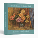 Renoir's Roses in Front of a Blue Curtain (1908) 3 Ring Binder