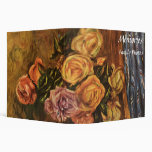 Renoir's Roses in Front of a Blue Curtain (1908) Binders