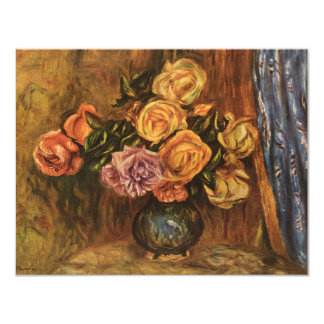 Renoir's Roses in Front of a Blue Curtain (1908) Card