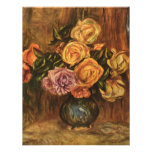 Renoir's Roses in Front of a Blue Curtain (1908) Custom Announcement