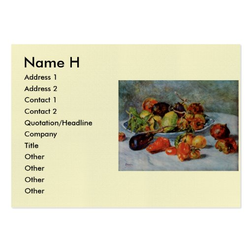 Renoir's Still Life with Mediterranean Fruit, 1911 Large Business Card
