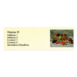Renoir's Still Life with Mediterranean Fruit, 1911 Mini Business Card