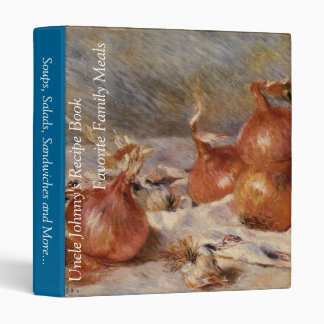Renoir's Still Life with Onions (1881) 3 Ring Binder