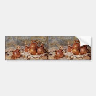 Renoir's Still Life with Onions (1881) Bumper Sticker