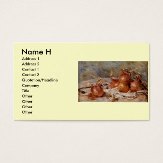 Renoir's Still Life with Onions (1881) Business Card