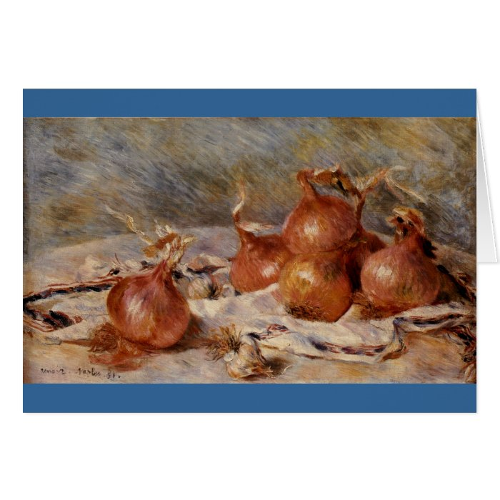 Renoir's Still Life with Onions (1881) Card