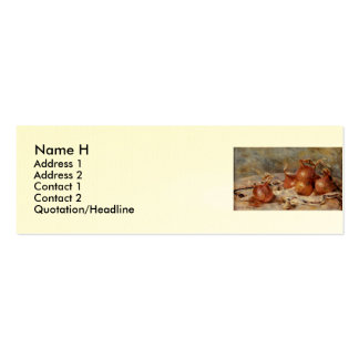 Renoir's Still Life with Onions (1881) Mini Business Card