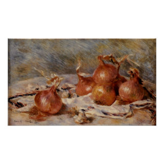 Renoir's Still Life with Onions (1881) Poster