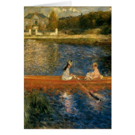 Renoir's The Seine at Asnières (The Skiff) ca 1879 Card