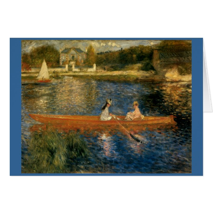 Renoir's The Seine at Asnières (The Skiff) ca 1879 Card