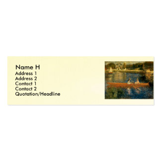 Renoir's The Seine at Asnières (The Skiff) ca 1879 Mini Business Card