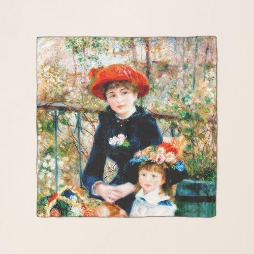 Renoir's Two Sisters Chiffon Scarf