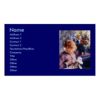 Renoir's Young Woman Sewing Business Card Template
